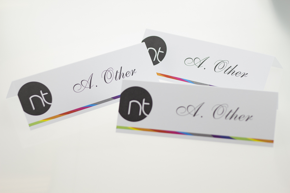 Place name cards