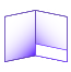 folder with horizontal pocket