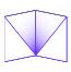 folder with diagonal pockets